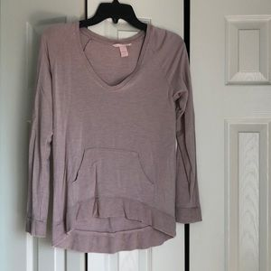 Taupe cardigan with front pocket